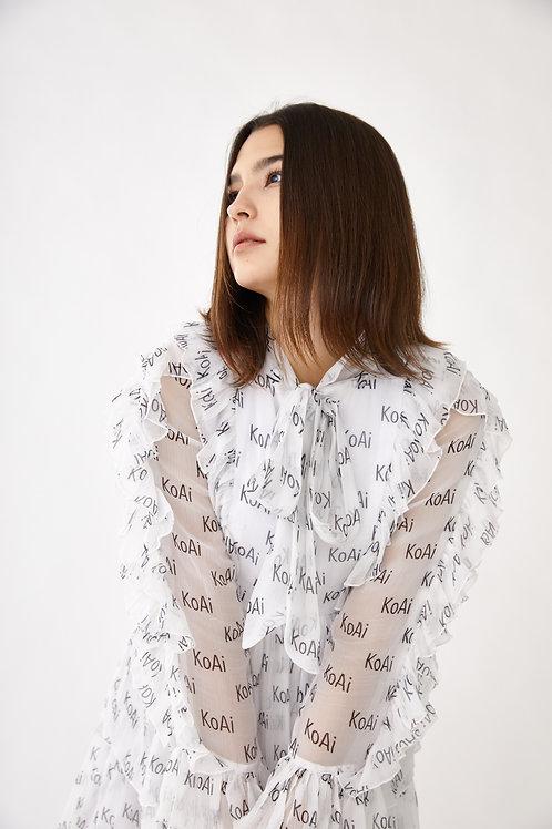 KoAi Logo Short Dress