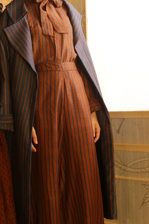 Copper And Blue Stripe Pants