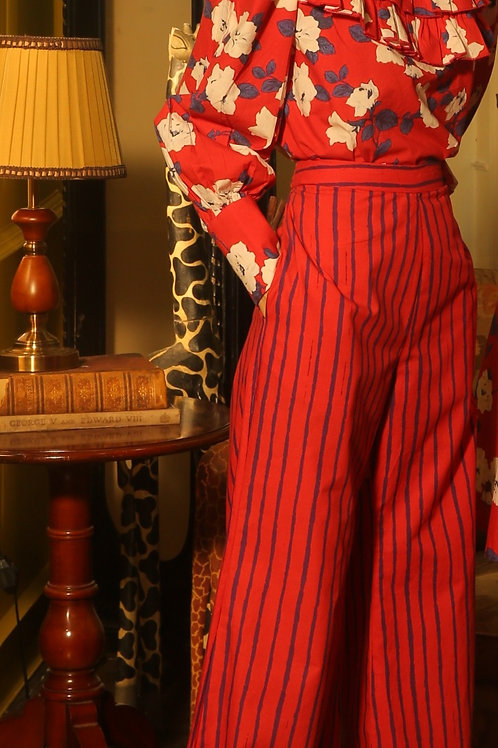 Red And Blue Stripe Pants