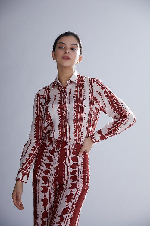 Red And White Dabu Shirt