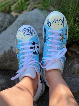 Custom sneakers - För evigt king