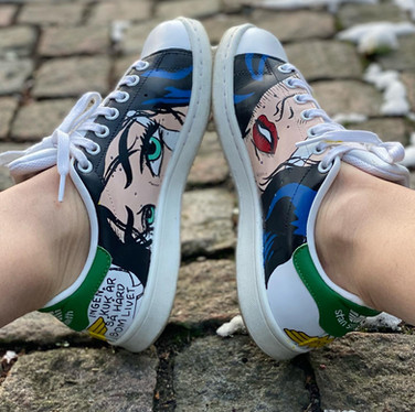 Custom sneakers - Wonder woman insidor