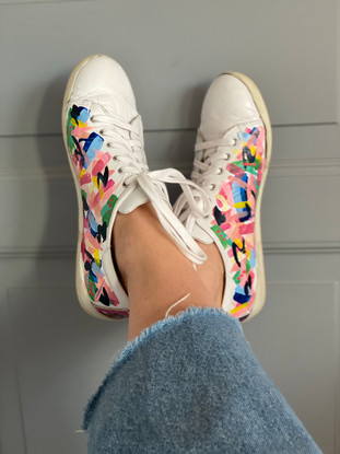 Custom sneaker Perfectly imperfect improvissation