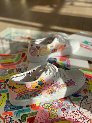 Custom sneaker - Reach for the stars Porträtt Persue magic
