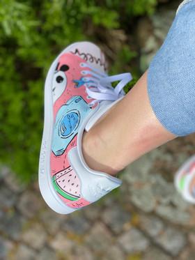 Custom sneakers - För evigt brudens panda