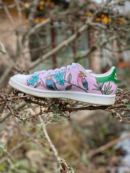 Custom sneakers - Chinoiserie ljus rosa