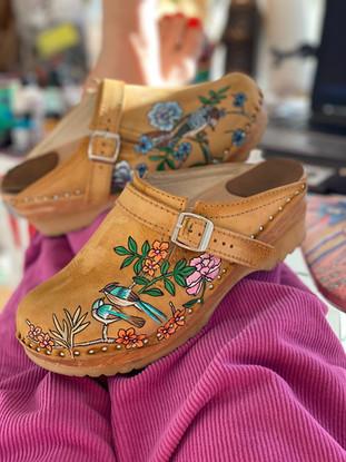 Custom clogs - Birds of paradise manchester