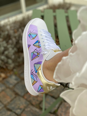 Custom sneaker - Will you marry me DIAMANTER