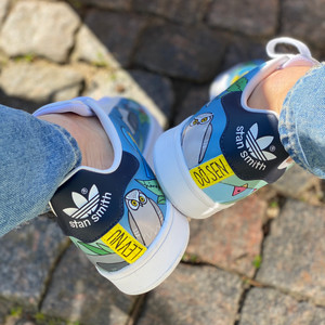 Custom sneakers - Martin Lev nu dö sen