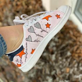 Custom sneaker - New York hjärtan