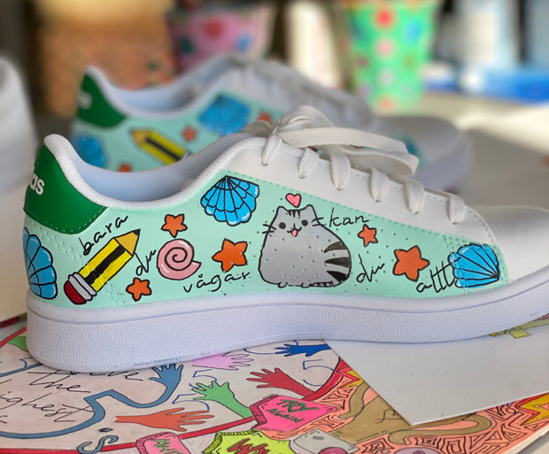 Custom sneaker - Kawaii turkos