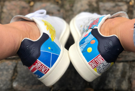Custom sneakers Serve it smash it win it - hälparti