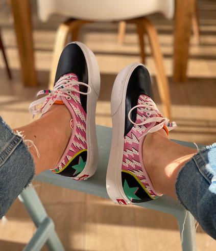 Custom sneakers Super duper blixtar pall