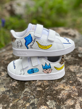 Custom sneakers - Tvillingarna Harry profil 2