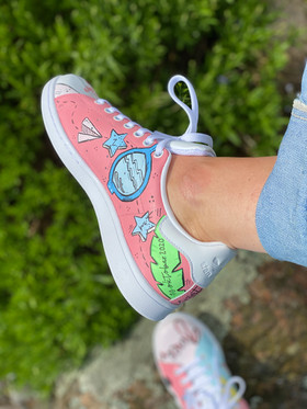 Custom sneakers - För evigt brudens solglasögon