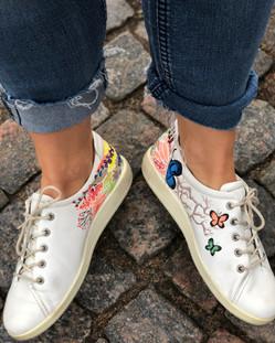 Custom sneakers When Harry met Sally insida