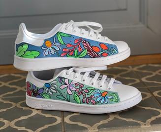 Custom sneakers - Blomsterdröm profil trappa