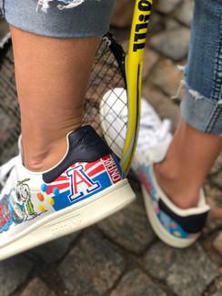 Custom sneakers Serve it smash it win it - UoA