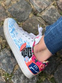 Custom sneaker Heja dej! blå