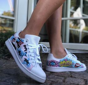 Custom sneaker Pop art darlings