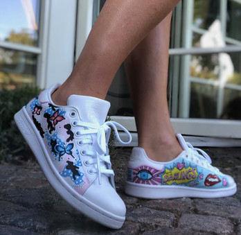 Custom sneaker Pop art darlings