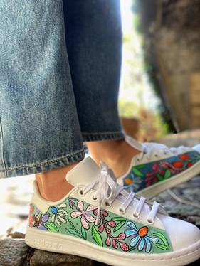 Custom sneakers - Blomsterdröm profil jeans