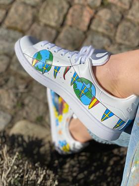 Custom sneakers - Studentskan jordglob