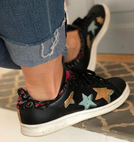 Custom sneakers Starstruck petroleum