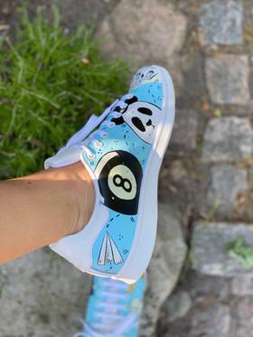 Custom sneakers - För evigt brudgum eight ball