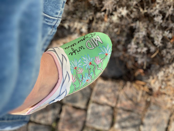 Custom sneakers Awesome midwife Grön
