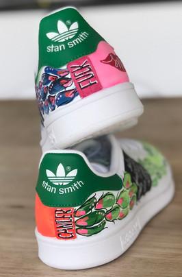 Custom sneaker Fuck cancer häl på höjd