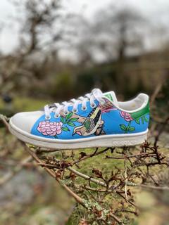 Custom sneakers - Chinoiserie ljusblå
