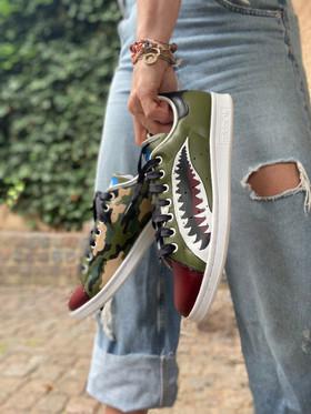 Custom sneakers - Warhawk profile jeans