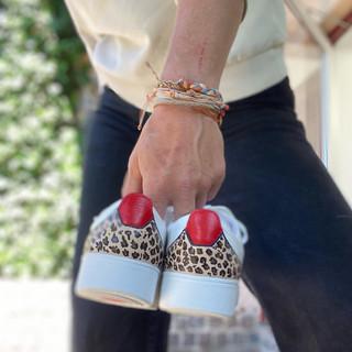 Custom sneakers - Leopard dream hälar hand