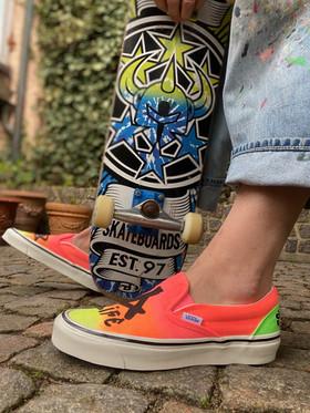 Custom sneakers - Sk8 4 life stående SB