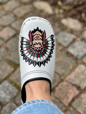 Custom clogs - 70 is the new 50 indian