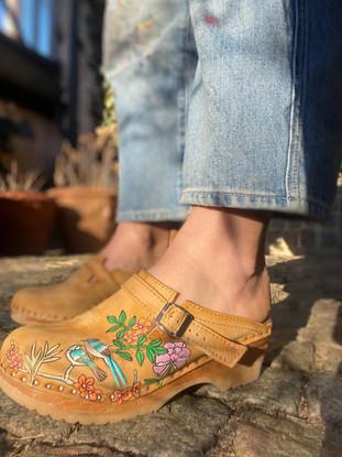 Custom clogs - Birds of paradise profil