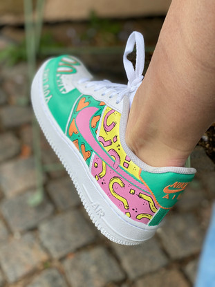 Custom sneakers - like what you do rosa/gul