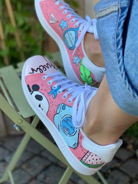Custom sneakers - För evigt brudens panda profil