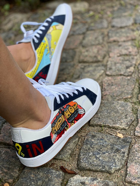 Custom sneakers - He-Man hip hop profil