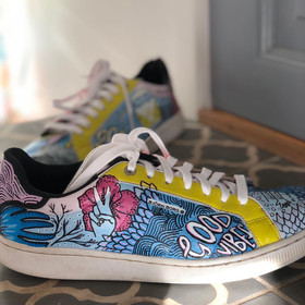 Custom sneakers Doodling Good vibes
