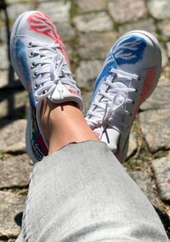 Custom sneakers Shellseeker tåspetsar