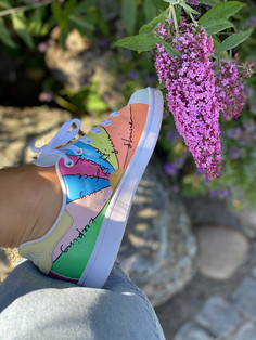 Custom sneakers - Flower Power