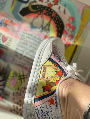 Custom sneaker - Reach for the stars Reach m målning