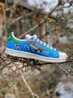 Custom sneakers - Chinoiserie mörk blå