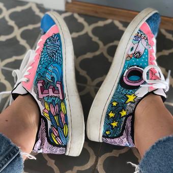 Custom sneakers Doodling insidor