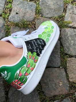 Custom sneaker Fuck cancer gröna blad
