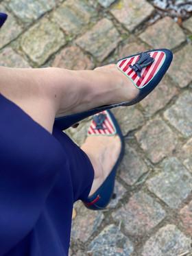 Custom shoes Tiger pumps uppifrån