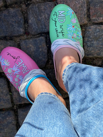 Custom sneakers Awesome midwife uppifrån