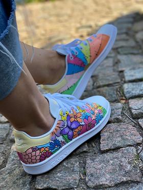 Custom sneakers - Flower Power